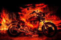 Ghost-Rider-Bike (Jonathan V. Photo) Tags: brussels reflection bike honda advertising fire photography nikon long exposure ranger belgium jonathan rope motorbike commercial strobe kevlar cto elinchrom coneptual nikond3 vahsen jonathanvahsenphotography