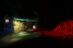 Something's in the Woodshed (Crux_VII) Tags: longexposure lightpainting flash dream flashlight nightmare strobe woodshed