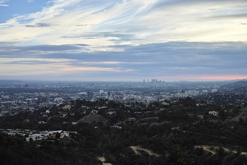 A view of Hollywood, Beverly Hills, and West LA from Griffith Observatory.
