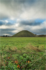 Cloudy Hill (Chris Beard - Images) Tags: uk summer landscape cloudy september wiltshire cloudysky silburyhill