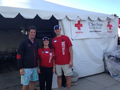 PZ Pearce, MD, Natalie Voskanian, MD and Kevin Messey, ATC - Race medical directors