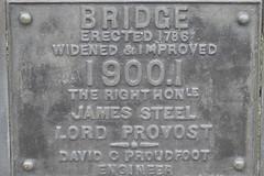 Plaque on the Stock Bridge
