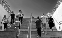 at the metro station (Steve Androu) Tags: blackandwhite bw streetphotography hellas athens