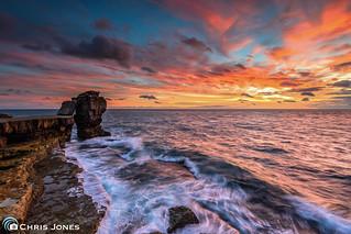 Afterglow At Pulpit Rock, Portland Bill Dorset
