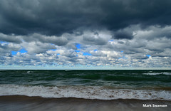 Clouds - Explore (mswan777) Tags: travel sunset sky lake seascape color fall beach nature clouds landscape sand nikon exposure waves michigan dunes lakemichigan greatlakes lakeshore polarizer circular d5100