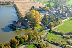 Bouligneux (Christian Mens) Tags: château eglise étang etang ladombes dombes vueaérienne bouligneux églisestmarcel