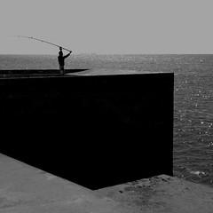 Finisterr #414 (alentours & ailleurs) Tags: ocean sea blackandwhite bw seascape portugal lines square blackwhite seaside noiretblanc geometry minimal porto squareformat monochrom minimalism atlantique visionquality alentoursailleurs 130702414