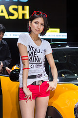MINI -Tokyo Motor Show 2013 (Ariake, Tokyo, Japan) (t-mizo) Tags: girls portrait woman girl car j