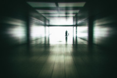 stroll. (angsthase.) Tags: people blur silhouette germany deutschland tunnel nrw ruhrgebiet dortmund ruhrpott mft 2013 micro43 olympuspenepl1 slrmagictoylens26mmf14