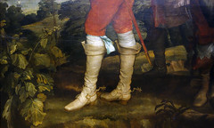 van Dyck, Charles I at the Hunt, detail with boots