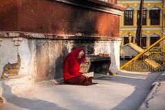 prayer (1 of 1) (newliskeard) Tags: nepal sunset mountains reflection sunrise trekking death tibet himalaya hinduism annapurna travelportrait canon24105l sigma7020028 canon6d