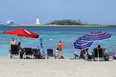 Umbrellas_9691 (Stephen Wilcox - Jetwashphotos.com) Tags: ocean cruise sea lighthouse beach umbrella sand flickr legs bahamas nassau galore paradiseisland junkanoo moobs