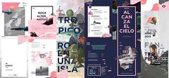 Tropico - Desplegable (☁ Caro Espíndola ☁) Tags: festival rock island design graphic id tropic cosmic isla branding gabriele tropico alternativo desplegable tropicoç