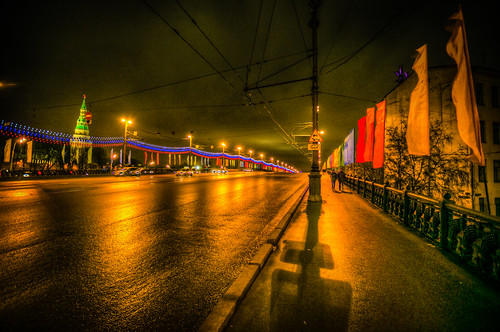 Borovitskaya by Night