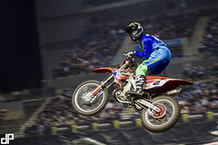 The 2014 Garmin UK ArenacrossUK Tour with E22 Sports at Liverpool's Echo Arena. — with Neville Bradshaw at Echo Arena.