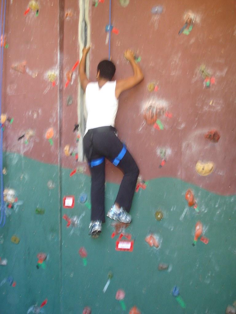 DC and staff rock climbing 018