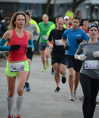 First Half Feb 16 2014 084937 (gherringer) Tags: canada vancouver race outdoors athletics downtown bc exercise britishcolumbia competition running seawall runners englishbay stanleypark colourful westend halfmarathon fit active bibs 211km 131mi vanfirsthalf 2014firsthalfhalfmarathon