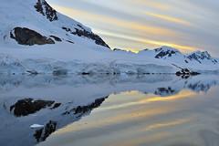 Gerlache Strait, Antarctica 2014 (Easy Traveler) Tags: sun reflections sunsets antarctica gerlachestrait