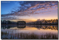 Tickled Pink (Fraggle Red) Tags: lake reflection clouds landscape dawn nationalpark bravo florida evergladesnationalpark campground hdr enp longpinekey 7exp canonef1635mmf28liiusm miamidadeco dphdr canoneos5dmarkiii 5d3 5diii adobelightroom5
