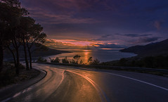 Destination paradise. (Vagelis Pikoulas) Tags: road street blue trees light sunset sea sky sun mountain mountains west colour reflection tree green beach clouds canon landscape eos spring kiss europe day niceshot view cloudy greece porto western 1855mm x4 2014 attiki vilia germeno 550d abigfave colorphotoaward mygearandme kithairwnas ringexcellence musictomyeyeslevel1