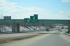 DSC_0052 (I.C. Ligget) Tags: road signs green sign big bangor maine dot transportation freeway interstate guide expressway 95 department brewer i95 395 i395 mainedot