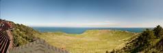 Seongsan ilchulbong panorama - Jeju Island - Korea (waex99) Tags: sea panorama mer ice landscape island volcano nikon korea microsoft stitching nikkor paysage jeju volcan core seongsan 1735mmf28 1735f28 ilchulbong d700