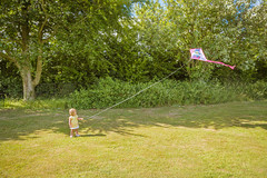 Flying a kite (GEHPhotos) Tags: park family summer people kite flying village olivia action windy hampshire clanfield canoneos6d ef2470mmf28usmii 1yr7months