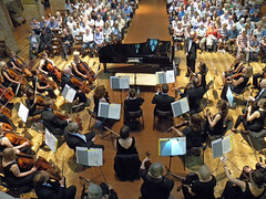 DSCN0026cc Ealing Symphony Orchestra tuning. 18th July 2015. St Barnabas Church, London (Paul Ealing 2011) Tags: london church st john july peter orchestra leader 18 symphony barnabas ealing eso conductor gibbons 2015 nall