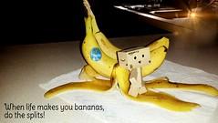 When life makes you bananas do the splits! (karmenbizet73) Tags: life art toys photography flickr toystory banana splits eyespy danbo 196365 danboard photodevelopment danbolove toysunderthebed 2015365photos