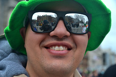 Reflections (Owen J Fitzpatrick) Tags: ojf people photography nikon fitzpatrick owen j joe pretty pavement chasing d3100 ireland editorial use only ojfitzpatrick eire dublin republic city tamron saint patrick st patricks day shades reflection reflect reflective mirror sunglasses glasses man male fun selfie teeth smile smiling hat brim green happy día de san patricio holiday festival sincero offen laño sincer 坦率 candido 率直 thật thà