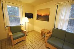 Cabin 9 living room tv First Landing State Park (vastateparksstaff) Tags: cabin cinderblock 2bedroomcabin