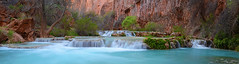 Pano of Havasu Creek (photo61guy) Tags: nikond7000 nature lightiq panorama pano havasucreek havasucanyon havasupai havasu az arizona turquoise waterfalls watermotion water waterpools landscape allnaturesparadise paradise