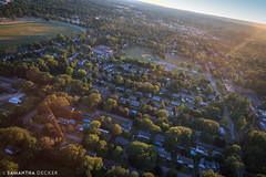 Saratoga East Side (Samantha Decker) Tags: canonef24105mmf4lisusm canoneos6d ny nyra newyork oklahomatrack samanthadecker saratogasprings aerial helicopter upstate