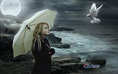 Carlos Atelier2 - O mar (Carlos Atelier2) Tags: carlos atelier2 mulher chuva pomba mar noite rochedo rocha pedra