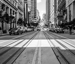 San Francisco (Seb Crookall-Nixon) Tags: san francisco street view hills city trams people busy buildings skyscraper california usa nor cal life usf sfsu