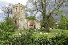 St Lawrence, Broughton (jiffyhelper) Tags: hcofgb:id=12550 church architecture historic buckinghamshire milton keynes broughton canon ixus 220hs churchyard lawrence tree