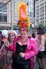 Seafood Hat (l plater) Tags: 2017sydneygayandlesbianmardigrasparade bicentennialplaza queenvictoriabuilding qvb lobster crab hat