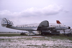 N90816 FLL 18-11-1987 (Plane Buddy) Tags: n90816 lockheed constellation fortlauderdale fll derelict