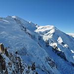 Perspective sur le Mont Blanc, Aiguille du Midi, Chamonix-Mont Blanc, Haute-Savoie, Rhône-Alpes, France. thumbnail