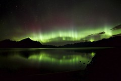 4AM Upper K lake (John Andersen (JPAndersen images)) Tags: alberta aurora canada clouds exshaw kananaskis mountains reflections river sky summer trees