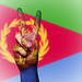 Peace Symbol with National Flag of Eritrea