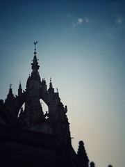 Piercing Spire on the Royal Mile - Edinburgh, Scotland (simonanger) Tags: scotland edinburgh olympus omd microfourthirds explore minimalist minimalism skyline sky goldenhour em5markii architecture abstract getlost church spire backlit home snapseed oishare