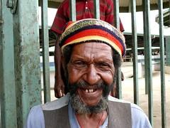 man at mount hagen market (Pete Read) Tags: man mount hagen market papau new guinea