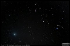 Comet 41P/Tuttle-Giacobini-Kresak in Ursa Major (The Dark Side Observatory) Tags: tomwildoner leisurelyscientistcom leisurelyscientist comet 41p 41ptuttlegiacobinikresak march 2017 weatherly pennsylvania m97 m108 ursamajor constellation astronomy astrophotography astronomer sky nightsky night science solarsystem canon canon6d 400mm ioptron zeq25gt planetarynebula galaxy deepspace deepsky deepskystacker dss
