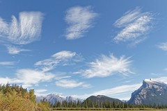 Crazy cloud day in Banff 2 (bichane) Tags: banff national park alberta canada mt rundle mountain clouds shapes shaped multiple