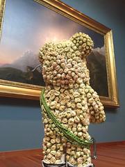 2017 Bouquets to Art Show at the de Young Museum (Tina Banda) Tags: deyoungmuseum bouquetstoart flowerexhibit floraldisplay illuminatedpainting rosebuds whiterosebuds contemplation rockclimber