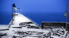 Mother Nature (Danny VB) Tags: winter snow mothernature canon 6d dock percé gaspésie québec canada neige hiver damenature nature ocean waves destroyed