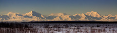 Alaska Range from Delta Junction (blkwolf1017) Tags: alaskarange mountains scenic deltajunction tananariver alaska sunshine sun canon50d sigma2470mm