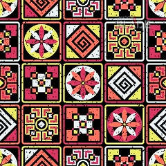 Seamless aztec pattern (shadowbilgisayar) Tags: print tile vector tone element gift repeat fabric illustration geometric decorative texture design cover color paper art style hipster background seamless wrapping wallpaper ornament urban template graphic card fashion shape abstract modern bright neon retro colorful backdrop shabby drive stylish border pattern textile gunge