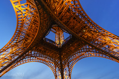 Looking up to the Tower (akirat2011) Tags: france paris eiffel